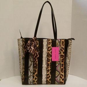 "Betsey Johnson ""So Patchy"" Animal Print Tote Bag"